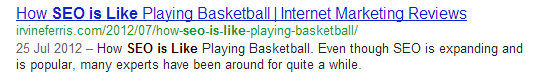 basketball SEO is like.....everything in the world except Gene Wilder