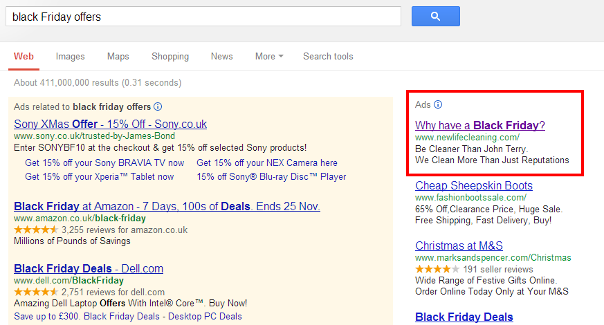 black friday ppc ad Brilliant Black Friday PPC Ad