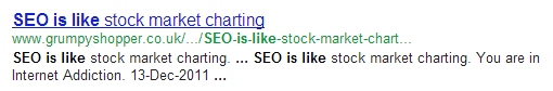 chanting SEO is like.....everything in the world except Gene Wilder