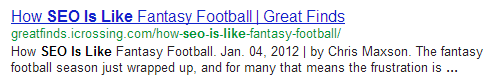fantasyfooty SEO is like.....everything in the world except Gene Wilder