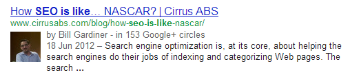nascar SEO is like.....everything in the world except Gene Wilder